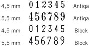 B6 K  sorszámbélyegző